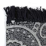 GJEFEGS vidaXL Kelim-Teppich Baumwolle 160x230 cm mit Muster Grau - 3