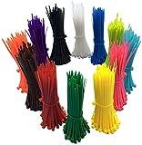 Paquete de 1200 bridas de colores de 10 cm, Alta calidad, resistentes,...