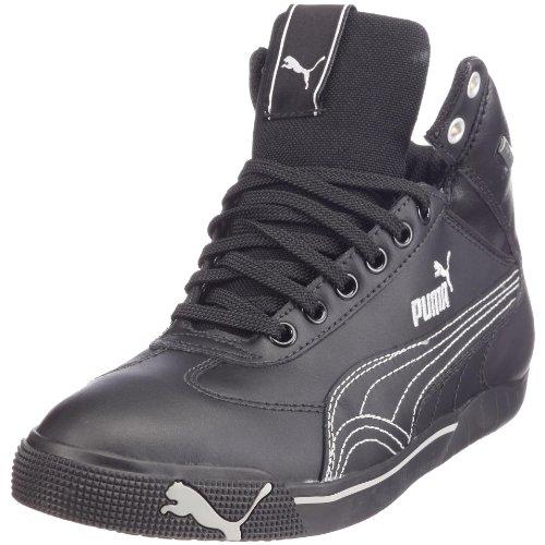 Puma 303537 01 Speed Cat 2.9 Mid GTX, Unisex - Erwachsene Sneaker, Schwarz (black-black-metallic silver), EU 42.5, (UK 8.5)