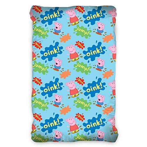 TipTrade Spannbettlaken Bettlaken mit Gummi 90x200 cm Peppa Pig Schweinchen Peppa