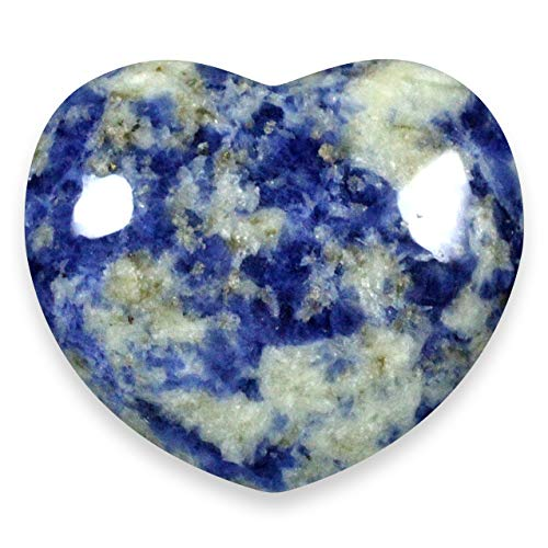 Sodalite Crystal Heart ~ 4.5cm by CrystalAge