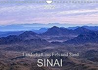 Sinai - Landschaft aus Fels und SandCH-Version (Wandkalender 2022 DIN A4 quer): Der Sinai, Fels- und Sandwueste mit abwechslungsreicher atemberaubender Landschaft. (Monatskalender, 14 Seiten )