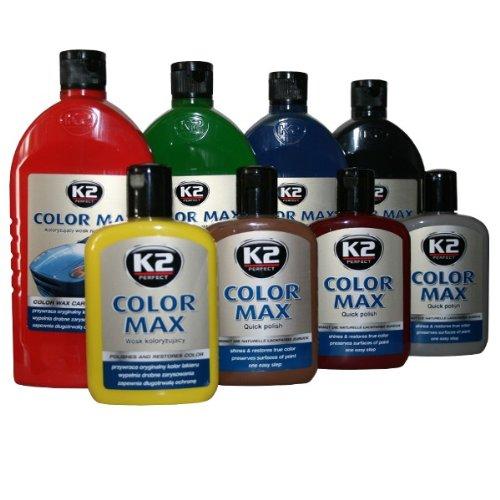 K2 Color Max Farbpolitur Autopolitur Wachspolitur Politur mit Carnauba-Wachs, Gebindegröße:200 ml;Farbe:Rot