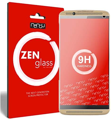 ZenGlass (2 Stück Flexible Glas-Folie kompatibel mit ZTE Axon 7 Panzerfolie I Bildschirm-Schutzfolie 9H I (Kleiner Als Das Gewölbte Bildschirm)