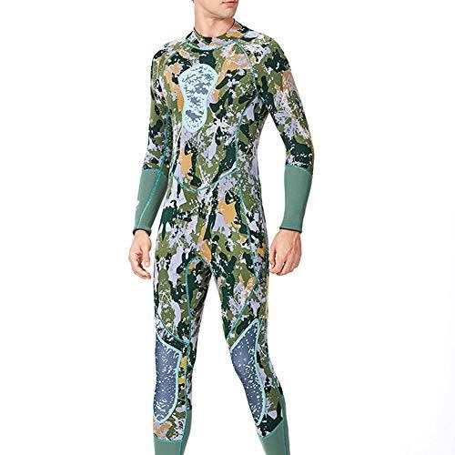 XZYP Spearfishing Roeien Wetsuit Mannen Vrouwen Groen Camouflage Full Body Een Stuk Wetsuit 3MM Neopreen Warm Surf Duiken pak