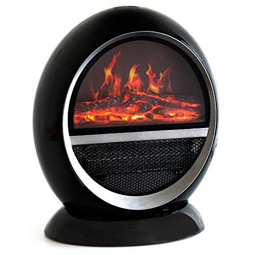 Divina Fire Camino elettrico con finta fiamma caminetto 1500W stufa Marte Nero