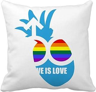 OFFbb-USA Love is Love Pineapple - Funda cuadrada para almohada