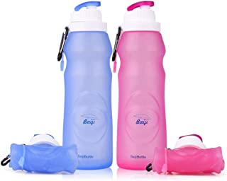 baiji bottle ll120 Silicone Water Bottles Sports Camping Canteen 20 Oz. -Easy To Clean..
