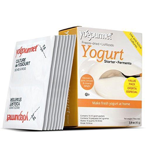 酸奶16包冷冻干燥的酸奶入工值包,1盒含有16个每5克包2.8 onces