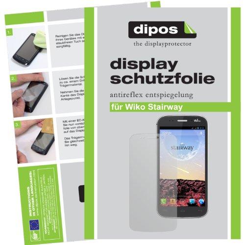 dipos I 2X Schutzfolie matt kompatibel mit Wiko Stairway Folie Bildschirmschutzfolie
