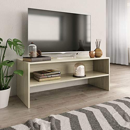 UnfadeMemory Mobile TV Comodino per TV Mobili da Soggiorno Rovere Sonoma 100x40x40 cm in Truciolato