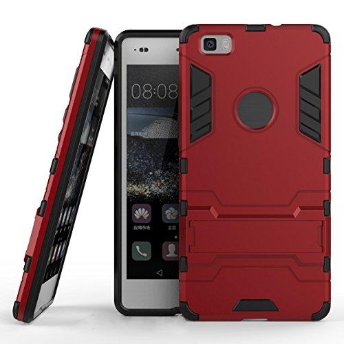 SCIMIN - Carcasa híbrida para Huawei ALE-L21, funda híbrida resistente a prueba de golpes, protección de doble capa híbrida, carcasa rígida con función atril para Huawei ALE-L21 de 5,0'