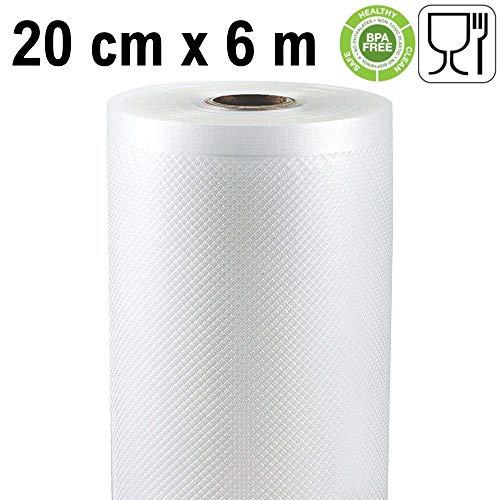 Rollo gofrado de envasado al vacío (20cm x 6 metros) (2 uds.)