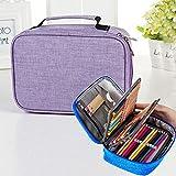Haweel Papelería Estuche de lápices a Prueba de Agua 72 Colores de Gran Capacidad Sketch Pencil Bag Set de papelería (Color : Rose Red)