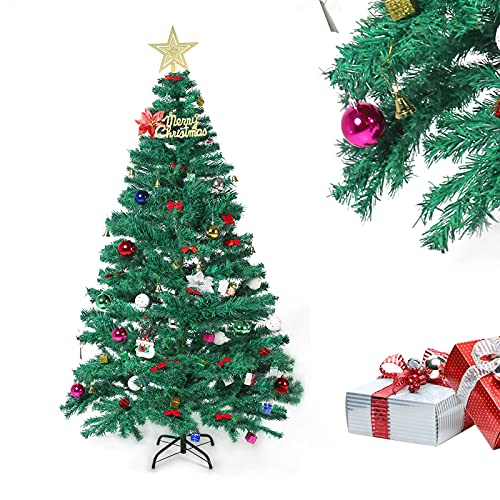 CHINZIO Albero di Natale Artificiale 180 cm, Realistico Abete di Natale Artificiale, Facile Montaggio, PVC, Lgnifugo, Albero Natale con Supporto in Metallo (Verde