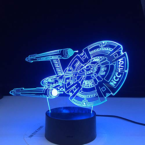 Only 1 Piece Spaceship Spaceship Childrens Bedroom Decoration 3D LED Night Light Color Changing Childrens Night Light Best Birthday Gift
