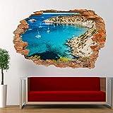 Pegatinas de pared Spain Sand Sailing Bay Sea 3D Art Mural Office Home Decoration