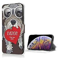 シュナウザー 毎日好き ハー iPhone Xs 適用 ケース 手帳型 iPhone X 適用 ケース 財布型 高級PUレザー カード収納 スタンド機能 スマホケース 耐衝撃 全面保護 携帯カバー