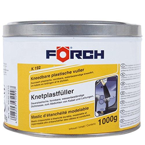 Förch K192 plast Stylo de pétrissage 1000 g – Léger verformbare Pâte à joint pour leitungs et de câble percées, élimine bruit à l'intérieur