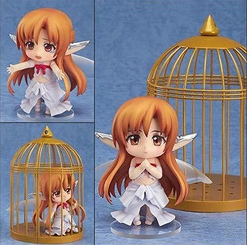 XFHJDM-WJ Puppe 10cm Anime Schwert Kunst Online Feen Tanz Vogelkäfig Kirito Yuuki 382# Asuna Titania Ver Gesicht Wechselbare PVC Actionfigur Modell Spielzeug-0301