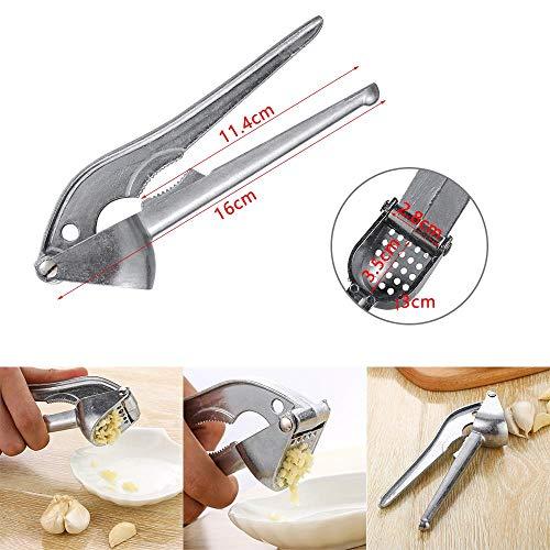 Prensas de aluminio y ajo Galletas de nuez y nuez Trituradora de jengibre Exprimidor de vegetales práctico Gadget de cocina # 26