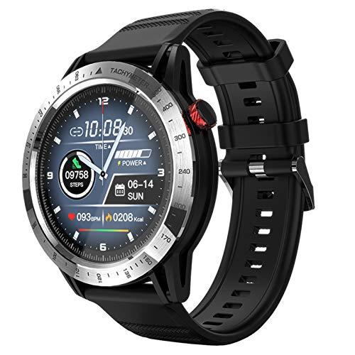 FMSBSC Reloj Inteligente para Hombres y Mujeres, Smartwatch Pulsómetros IP68 a Prueba de Agua Reloj Digital con Step Calories Monitor de Sueño, Reloj de Fitness con iOS Android,Plata