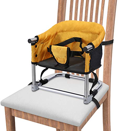 Cheapest Prices! Portable Booster Seat Travel Feeding Seat, Baby Folding High Chair W/Carrying Bag f...