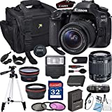 Canon EOS 80D with 18-55mm is STM + 64GB Memory + Padded Camera Bag + Digital Slave Flash+ Pro Filters,(28pc Bundle)