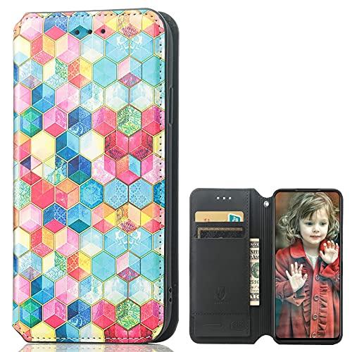 MingMing Lederhülle für Meizu 18 PRO 5G Hülle, Flip Hülle Schutzhülle Handy mit Kartenfach Stand & Magnet Funktion als Brieftasche, Tasche Cover Etui Handyhülle für Meizu 18 PRO 5G, CH04