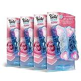 Marca Amazon - Presto! Bloques WC 6 en 1 para taza de inodoro (agua azul), Floral, 8 unidades (4 paquetes x 2 unidades)
