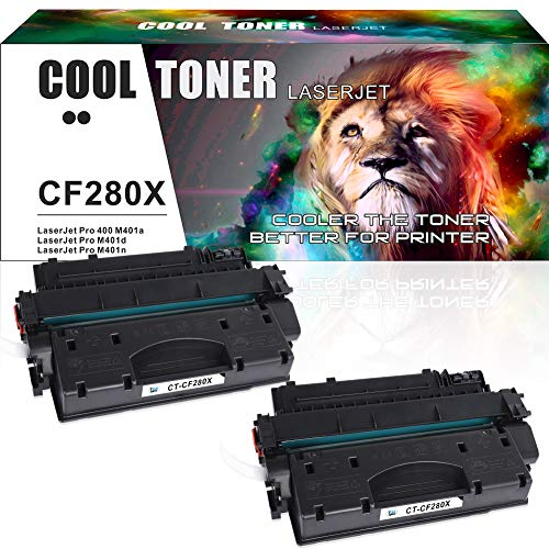 Cool Toner compatibele Toner Cartridge Vervanging voor HP CF280X CF280A 80X 80A voor HP LaserJet Pro 400 M401a M401d M401n M401dn M401dne M401dw,6900 Pagina