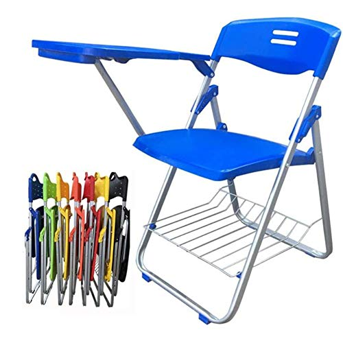 Dongbin Bewegliche Schnalle Stuhl mit Schreibtafel Bürositzung schriftlich L-förmigen Stuhl freier Installation Tisch und Stuhl integrierte Student Klappstuhl 42 * 46,5 * 80.5CM,B