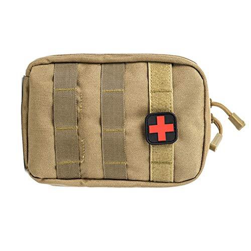 rongweiwang Tactical First Aid Kit Fanny Hüfttasche Notfall Erste-Hilfe-Fanny Reiseüberlebens-Rettungshandtasche wasserdichte Camping Wandern Pouch Case