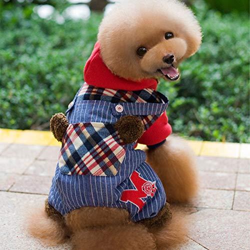 HCBDQQ Haustierbaumwollhundekleidung Bunte Tendenzhundekleidung Warme Weiche Kleidung des Winters Hundekleidung M