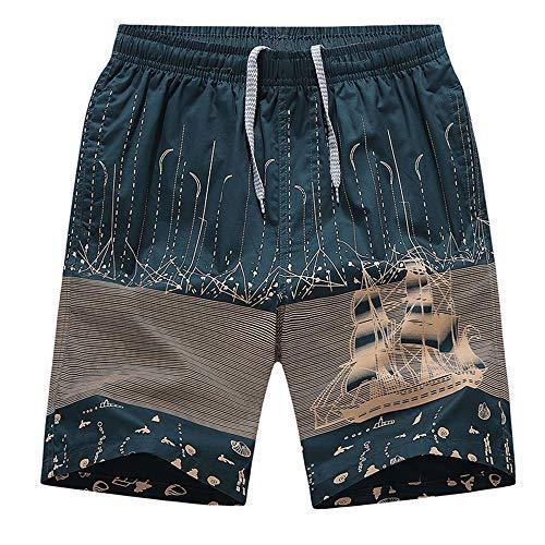 GFENG Mens Gym Shorts Summer Sports Shorts Zip Pockets