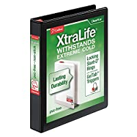 Cardinal 26301 XtraLife ClearVue Non-Stick Locking Slant-D Ring Binder 1 in Black
