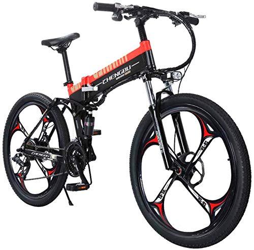 Ebikes, 26 'Bici de montaña eléctrica: freno de doble disco para adultos de montaña y suspensión completa - 48V14.5AH400W Bicicleta de montaña Bicicleta de aleación de aleación de aluminio Bicicleta M