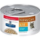 Hill's Prescription Diet k/d Kidney Care Vegetable & Tuna Stew Canned Cat Food 24/2.9 oz