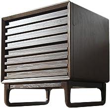 Bedside Table Bedside Table, American Minimalist Creative Retro Walnut Mini Bedroom Bedside Storage Locker, Suitable for L...