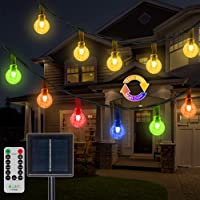 Ollny 50-LED 25ft Solar String Warm White Color Changing Lights