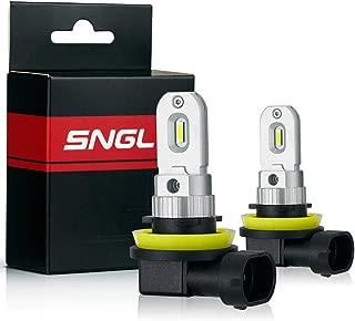 SNGL H8 LED Fog Light bulb 6000K White Super Bright without Glare for Fog lights or DRL(Pack of 2)
