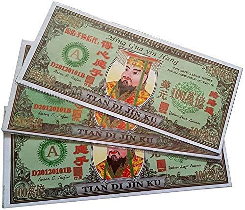 XUETT Joss Paper Money Ancestor Money - Billete De 100 Hojas Grande Hell Bank - Billete De Banco Estadounidense Dolla Hell Adecuado