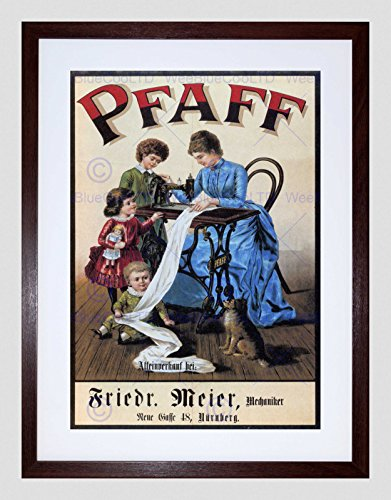The Art Stop Vintage PFAFF Sewing Machine Germany Vintage Retro Advert Framed Print B12X608