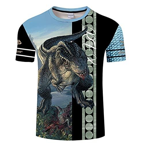 SSBZYES Camisetas para Hombre Camisetas De Manga Corta Verano Camisetas Casuales para Hombre Camisetas De Talla Grande para Hombre Camisetas para Hombre Camisetas con Estampado De Tiranosaurio Tops