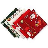CHSG 5 Pack Baumwollstoff Weihnachten Mehrfarbiger
