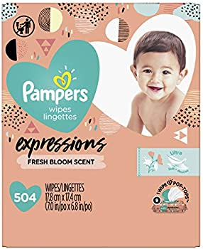 504-Count Pampers Expressions Baby Diaper Wipes