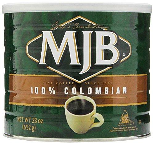 MJB Coffee, 100% Colombian Ground, 23 Ounce