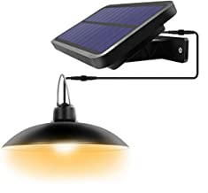 Solar Lights Outdoor Led-Powered Security,Pendant Light with IP65,Outdoor Lights with 180° Wide Adjustable Solar Panel for...