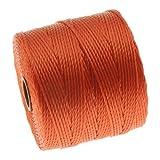 The Beadsmith Super-Lon Cord - Size #18 Twisted Nylon - Orange / 77 Yard Spool