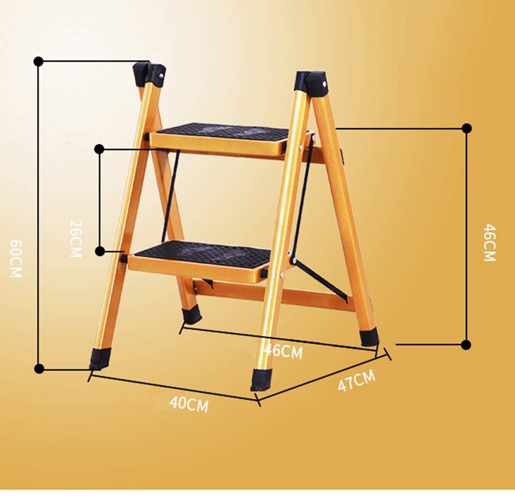 SwZQ-Escaleras plegables Cocina plegable Taburete, en dos pasos de escalera heces marco de la escalera de tres pasos antideslizantes Estantería/garaje Car Wash heces Capacidad de Carga: 100 kg Escal: Amazon.es: Bricolaje y